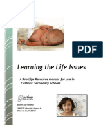 A Pro-Life Resource manual for use in Catholic Secondary schools