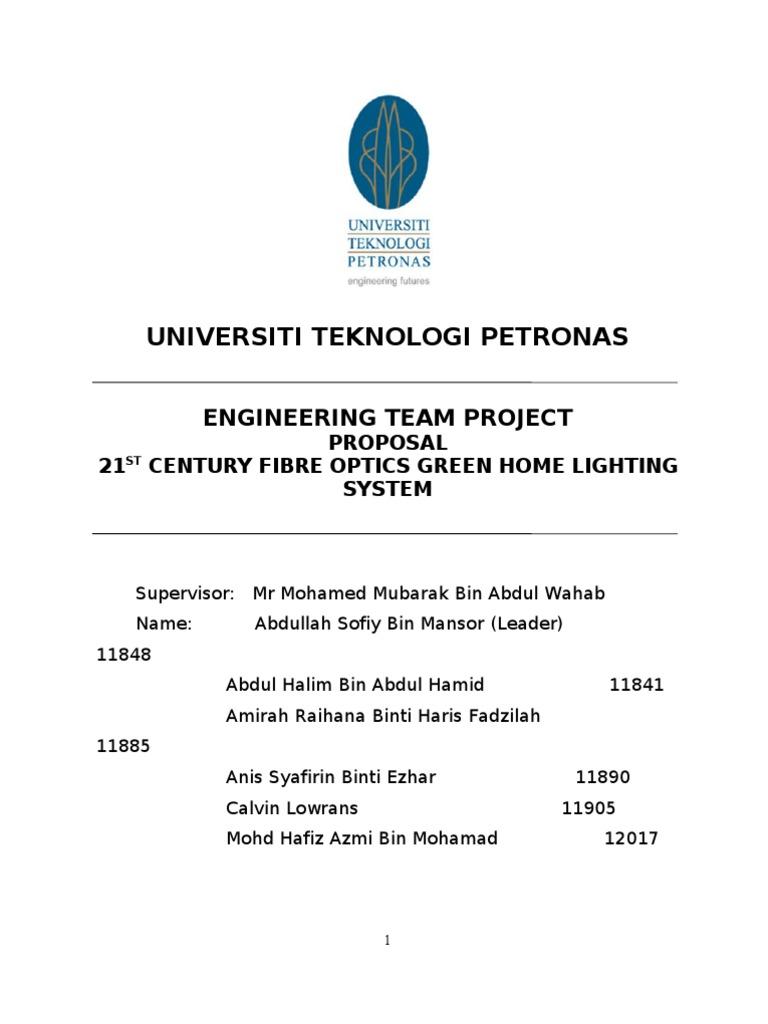 ETP Proposal Final Contoh | Fluorescent Lamp | Lighting