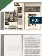 Libro El Bautismo Original (Pastor Rafael Rodriguez)