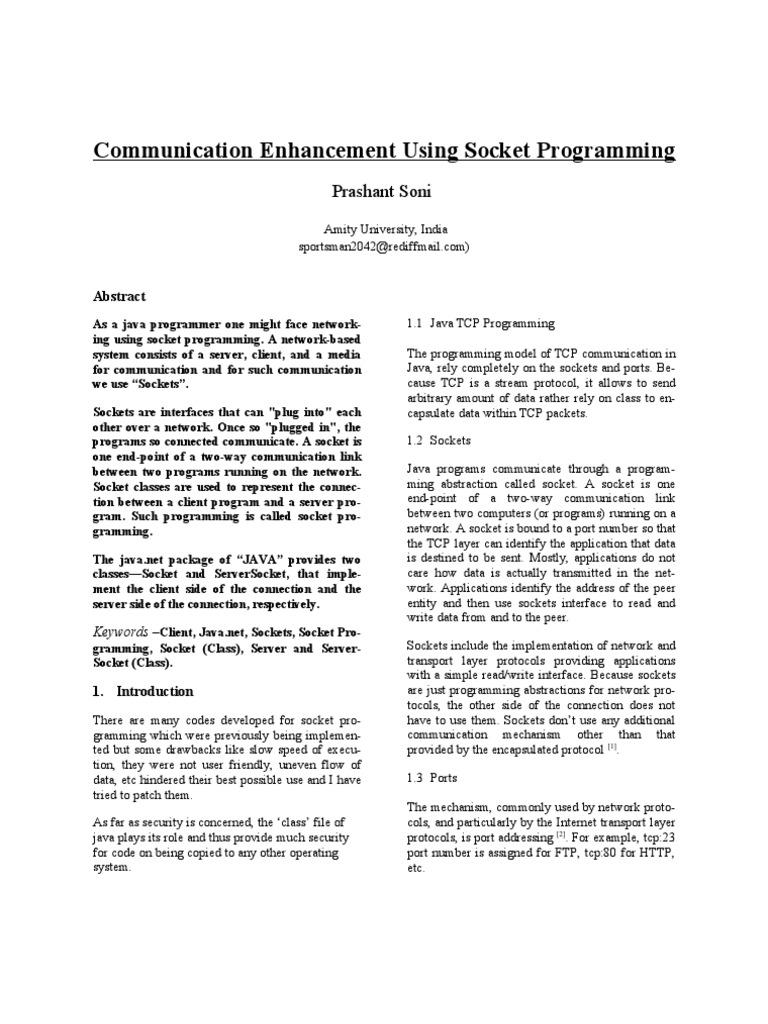 Socket Programming in JAVA | Network Socket | Transmission Control