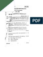 IGNOU B.A. Psychology, BPC-005, Question Paper, June 2012,