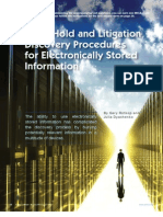 Legal Hold and Litigation Discovery Procedures for Electronically Stored Information