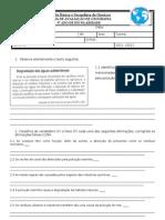 Ficha de avaliação 6 - 9º ano B