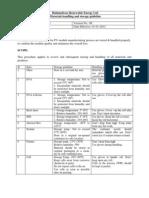 Materials Storage Handling Guide Line