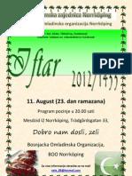 Plakat i Pozivnica Za Omladinski Iftar, Ramazan 2012