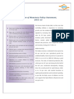 Review of Monetary Policy 2011-12