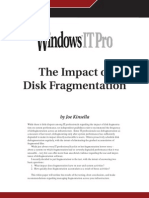 The Impact of Disk Fragmentation
