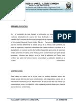 DIAGNÓSTICO AMBIENTAL DEL AREA DESTINADA AL PABELLON DE INGENIERIA CIVIL