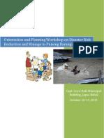 DRRM Orientation to Punong Barangays