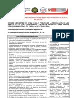 PROGRAMA DE ESPECIALIZACIÓN EN EDUCACION INTERCULTURAL BILINGÜE