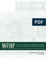 SIGTARP July 25, 2012 report to Congress