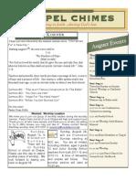 August 2012 Chapel Newsletter