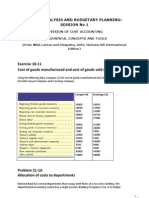 Cases Data- Session 1 Revision of Cost Accounting