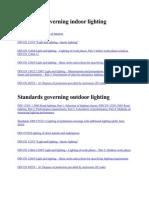 Standards Governing Indoor & Outdoor Lighting