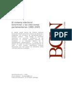 El sistema electoral Binominal y las elecciones parlamentarias 1989-2005