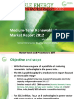 IEA 2012 Medium-Term Renewable Energy Market Report - presentation slides