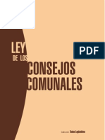 9774 Ley de Los Consejos Comunales