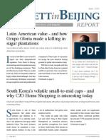 Buffett in Beijing Report June