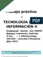 C10 Tecno II Malatesta, Gabriela TP2 Int.a La Red Social
