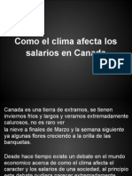 Como El Clima Afecta Los Salarios en Canada