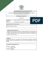 Programa Psicologia Relacoes Humanas - 2011.1