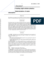 As 2498.8-1991 Methods of Testing Rigid Cellular Plastics Determination of Water Absorption