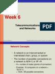 Week 6 - Telecommunication Network