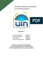 Konsep Konsumsi Dan Perilaku Konsumen Dalam Ekonomi Islam