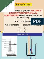 Charles's Law + pressure law