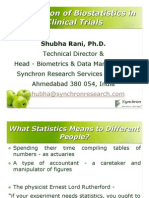 Application Biostatistics in Trials