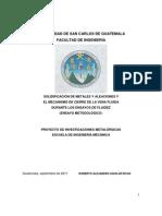 SOLIDIFICACIÓN DE METALES Y ALEACIONES Y EL MECANISMO DE CIERRE DE LA VENA FLUIDA DURANTE LOS ENSAYOS DE FLUIDEZ