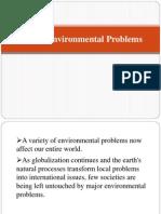 Global Environmental Problems