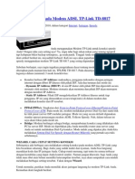 Setting Speedy Pada Modem ADSL TPlink
