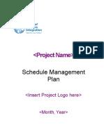 Schedule Mgmt Plan