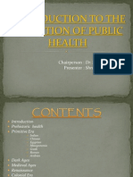 Evolution of Public Health