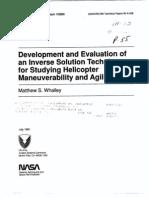Development of Inverse Simulation Technique NASA