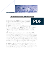 OBD II Specifications and Connections