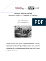 """Convocatoria """"Coloquio Imagen y Política"""""""