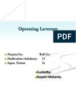 Oprating Leverage