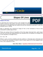 Slopes of Lines