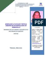 Portafolio Virtual Seminario Avanzado Diseños de Investigacion en Gerencia II