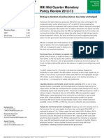 RBI Mid Quarter - Monetary Policy Review 2012-13