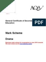 Specimen Mark Scheme