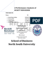 Financial Performance Analysis Of Reckitt Benckiser