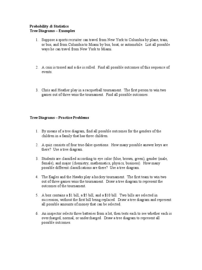 Tree diagrams examples and practice problems problems from bluman pooptronica Images