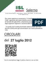 Circolari Del 27 Luglio 2012