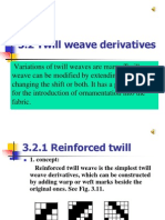 3-2-1 Twill Weave Derivatives