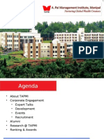 TAPMI Campus Relationship Program 2012-14