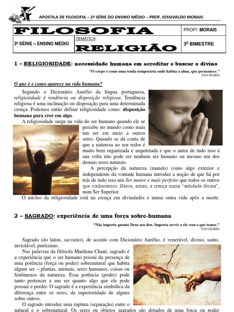 Populares Apostila de Filosofia - 3ª série - Ensino Médio - 3º Bimestre KJ26