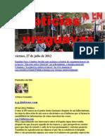Noticias Uruguayas Viernes 27 de Julio Del 2012